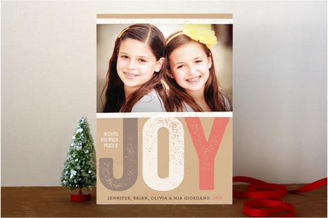 Impressed Joy Holiday Photo Cards