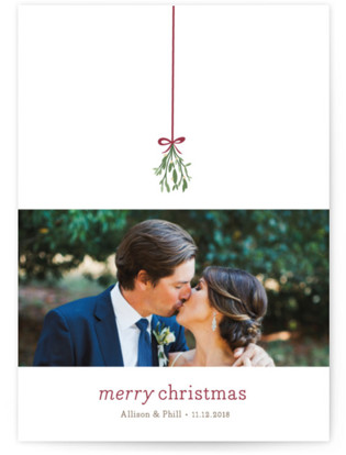 Mistletoe Kiss Holiday Photo Cards