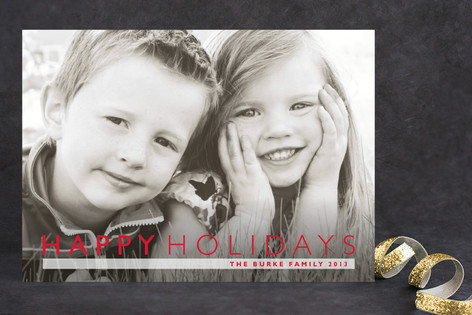 Modern Gallery Holiday Photo Cards