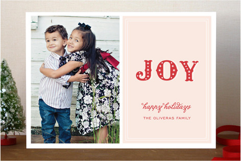 Noel Stardust Holiday Photo Cards