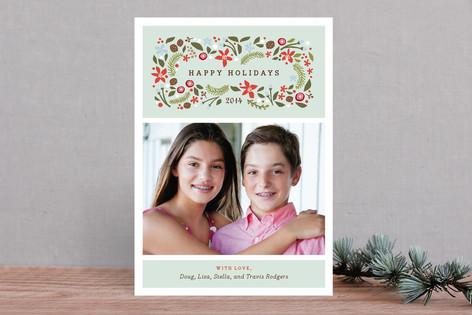 Blushing Christmas Holiday Photo Cards
