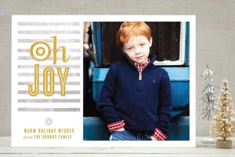 O Joy Holiday Photo Cards