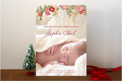 Fleur de Noel Holiday Photo Cards