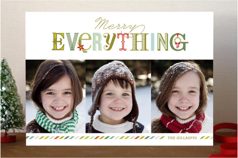 Merry Everything Bright Holiday Photo Cards