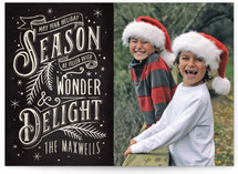 Wonder And Delight Holiday Photo Cards