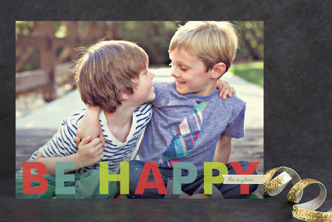 Simple Merry Holiday Photo Cards
