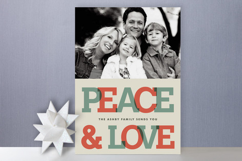 Send It with Slab Serif Holiday Photo Cards