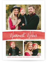 Watercolor Warm Wishes Holiday Photo Cards