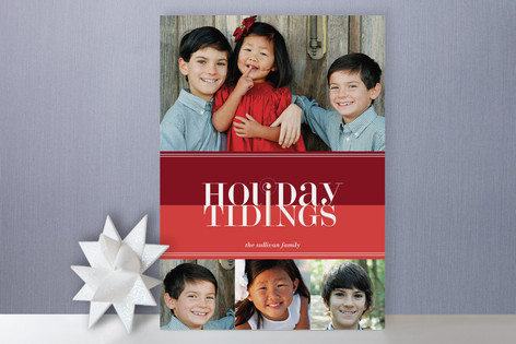 Bold Reflection Holiday Photo Cards