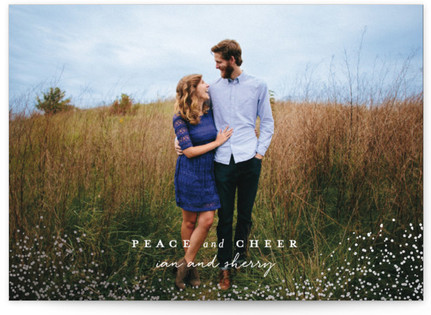 Peaceful Snow Holiday Photo Cards