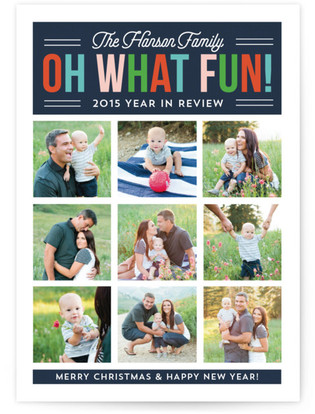 Oh What Fun Year in Review Holiday Photo Cards
