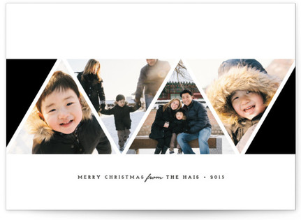 Modern Angles Holiday Photo Cards