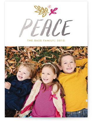 Lettered Peace Holiday Photo Cards
