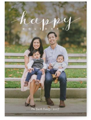 Simply Happy Holidays Holiday Photo Cards