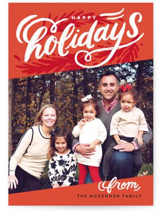 Holiday Slant Holiday Photo Cards