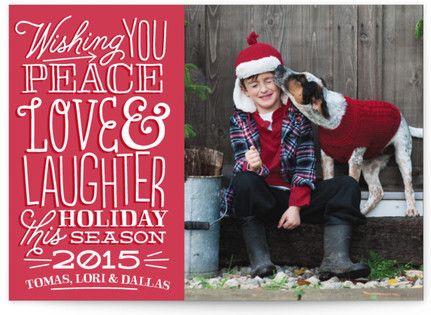 Love & Laughter Holiday Photo Cards