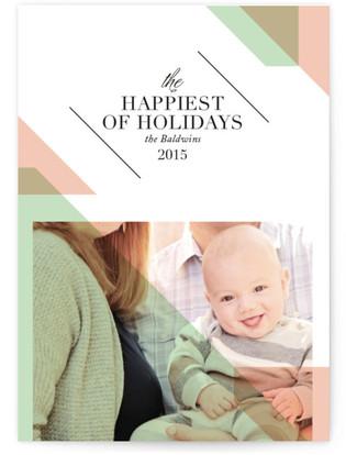 Slanted Holiday Holiday Photo Cards