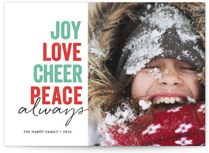 Sentiment Stack Holiday Photo Cards