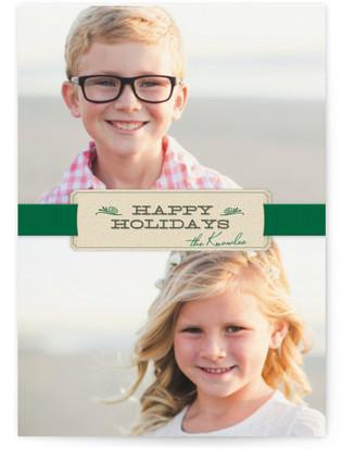 Christmas Ribbon Holiday Photo Cards
