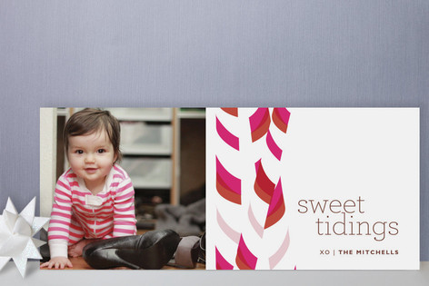 Candy Sticks Holiday Photo Cards