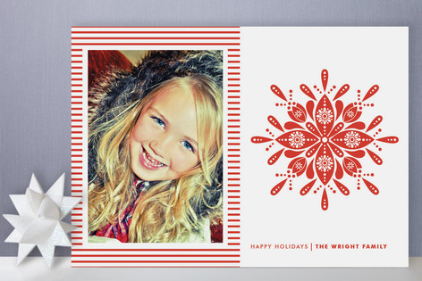 Nordic Snowflake Holiday Photo Cards