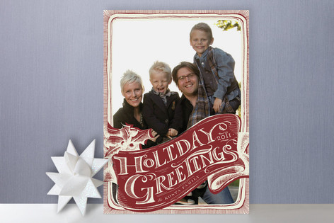 Vintage Greetings Holiday Photo Cards