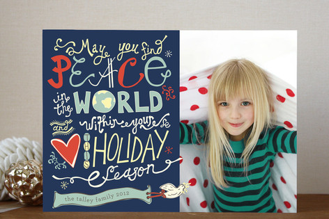Love and Peace Eternal Holiday Photo Cards