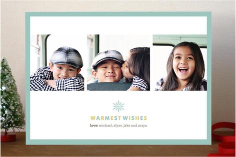 Snowflake Wish Holiday Photo Cards