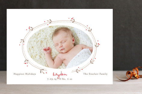 Vine and Berry Holiday Photo Cards