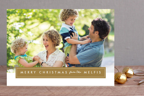 Modern Family Frame Holiday Photo Cards