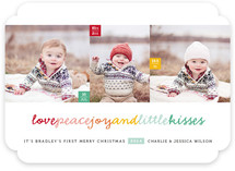 Happy Kisses Holiday Photo Cards