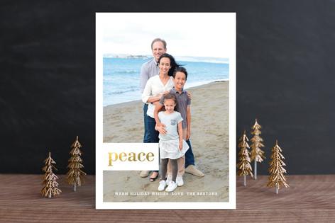 Shining Type Holiday Photo Cards
