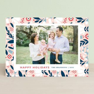 Mod Flor Holiday Photo Cards