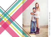 Plaid Paper Holiday Photo Cards