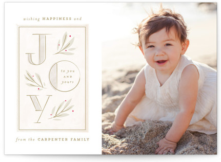 Sweet and Soft Joy Holiday Photo Cards