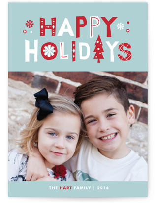 Tailored Type Holiday Photo Cards