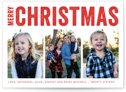 Merry Triptych Holiday Photo Cards