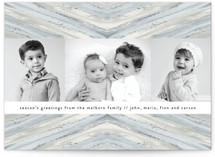 Winter Pattern Holiday Photo Cards