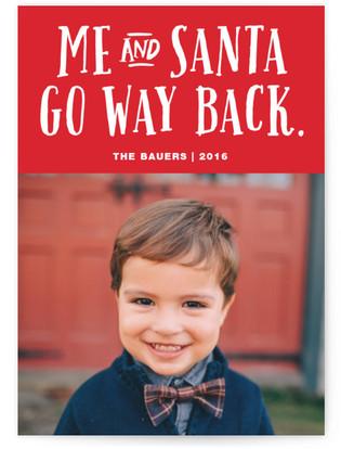 Me And Santa Holiday Photo Cards