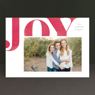 Statement Joy Holiday Photo Cards