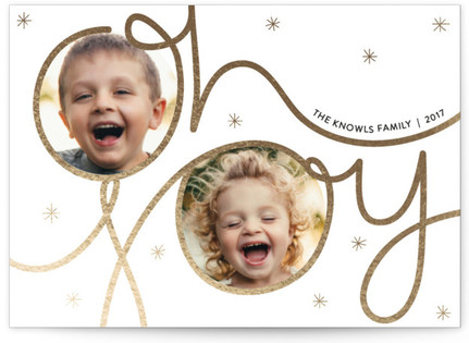 Festive Joy Holiday Photo Cards