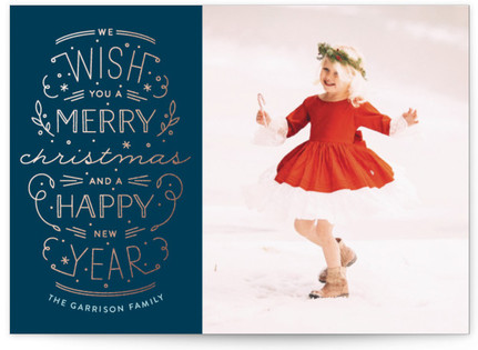 Merry Christmas Happy Year Holiday Photo Cards