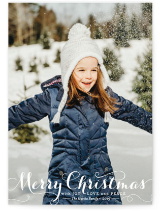 Spirit of Christmas Holiday Photo Cards