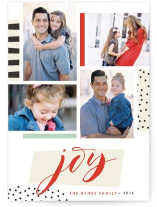Collage Joy Holiday Photo Cards