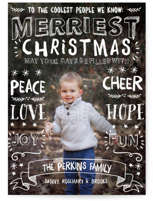 Merriest Greetings Holiday Photo Cards