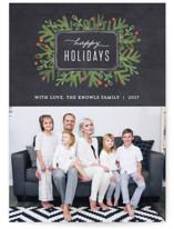 Winter Foliage Frame Holiday Photo Cards