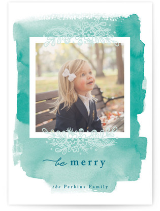 Frosted Holidays Holiday Photo Cards