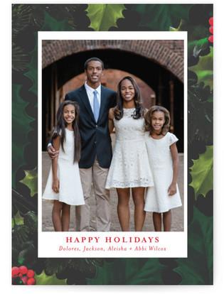 Leafy Border Holiday Photo Cards
