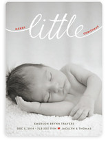 Little Letters Holiday Photo Cards