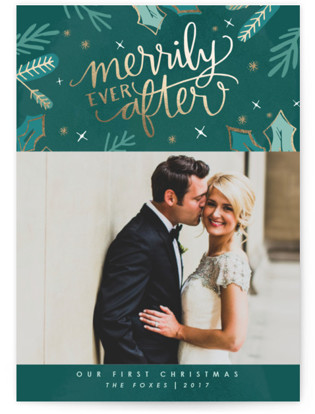 Merrily Ever After Holiday Photo Cards
